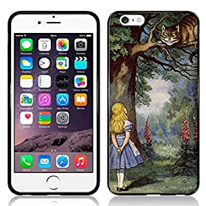 Case Fun Alice in Wonderland Cheshire Cat TPU Rubber Back Case Cover for Apple iPhone 6 (4.7 inch)