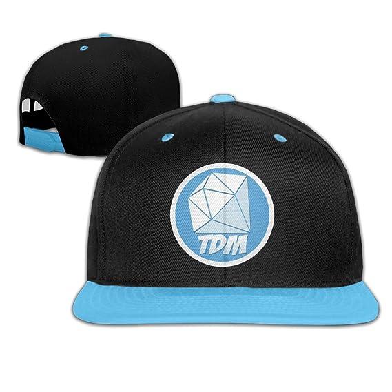 f7d7f77caf3 Be Yons Kids Caps   Hats DanTDM Adjustable White Snapback  Amazon.co ...