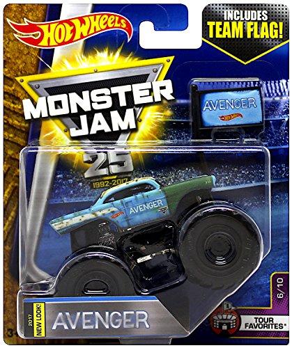 (Hot Wheels Monster Jam Avenger 25th Anniversary Tour Favorites Monster Truck 2017 Release