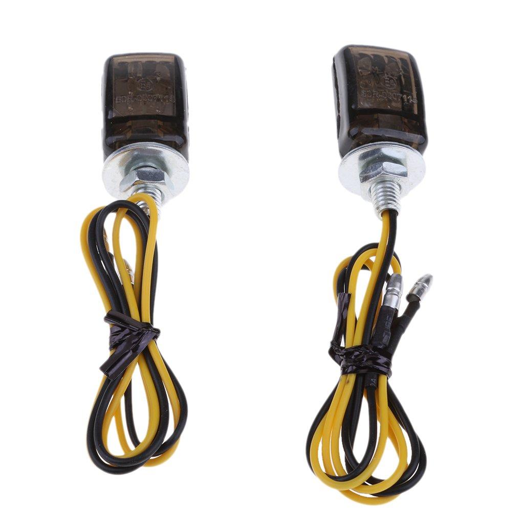 2pcs Universal LED Negro Micro Mini Peque/ños Indicadores Peque/ños Se/ñales
