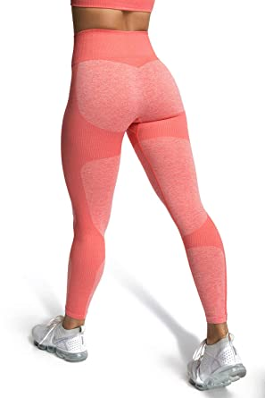 5cdaea4d435c6 MOYOOGA Seamless Leggings for Women High Waisted Capri Ombre Yoga Pants for  Workout,Athletic,