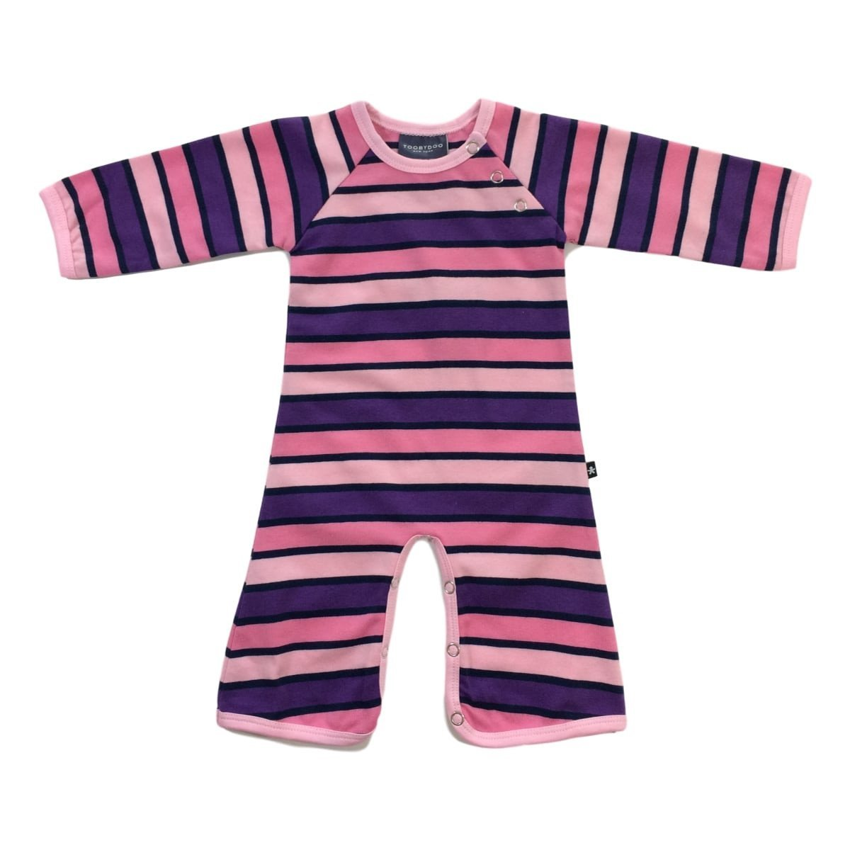 Toobydoo Baby Girl's Harper Bootcut Jumpsuit (Infant) Purple/Pink/Navy Jumpsuit