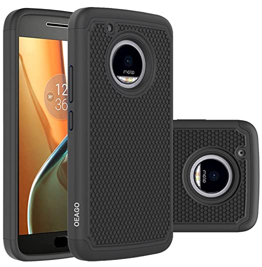 best cheap e293d ba789 OEAGO Moto G5 Plus Case, Moto G Plus (5th Generation) Case, [Shockproof]  [Impact Protection] Hybrid Dual Layer Defender Protective Case Cover for ...