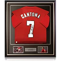 $502 » Eric Cantona Signed Manchester United Soccer Jersey Framed | Autographed Memorabilia