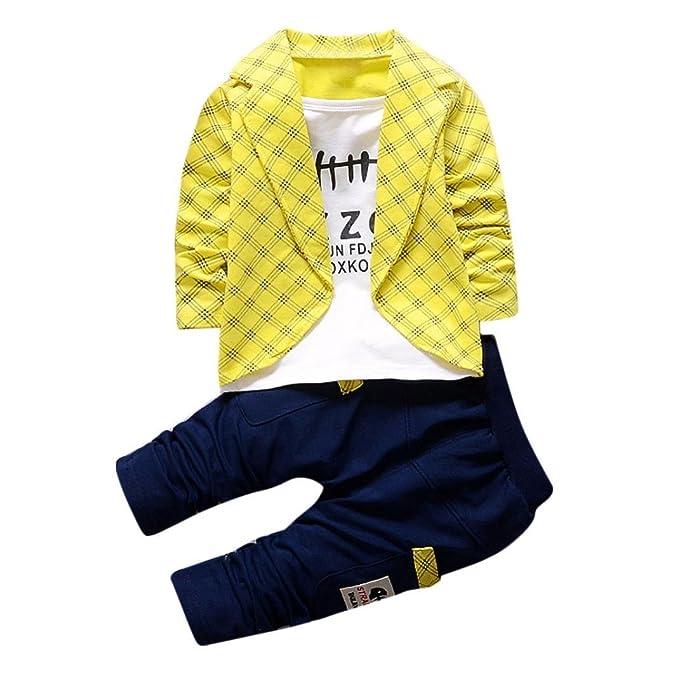 2pcs conjuntos de ropa de los niños del bebé niños, impresión de la letra blusa de manga larga y pantalones largos ropa de fiesta formal conjunto para bebés ...