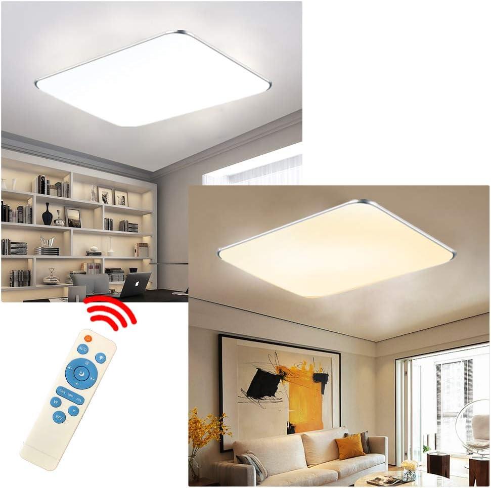 Cuisine H/ôtel 128W LED Plafonnier Moderne Luminaire Lampe Lampe de Plafond pour salon chambre /à coucher Blanc froid