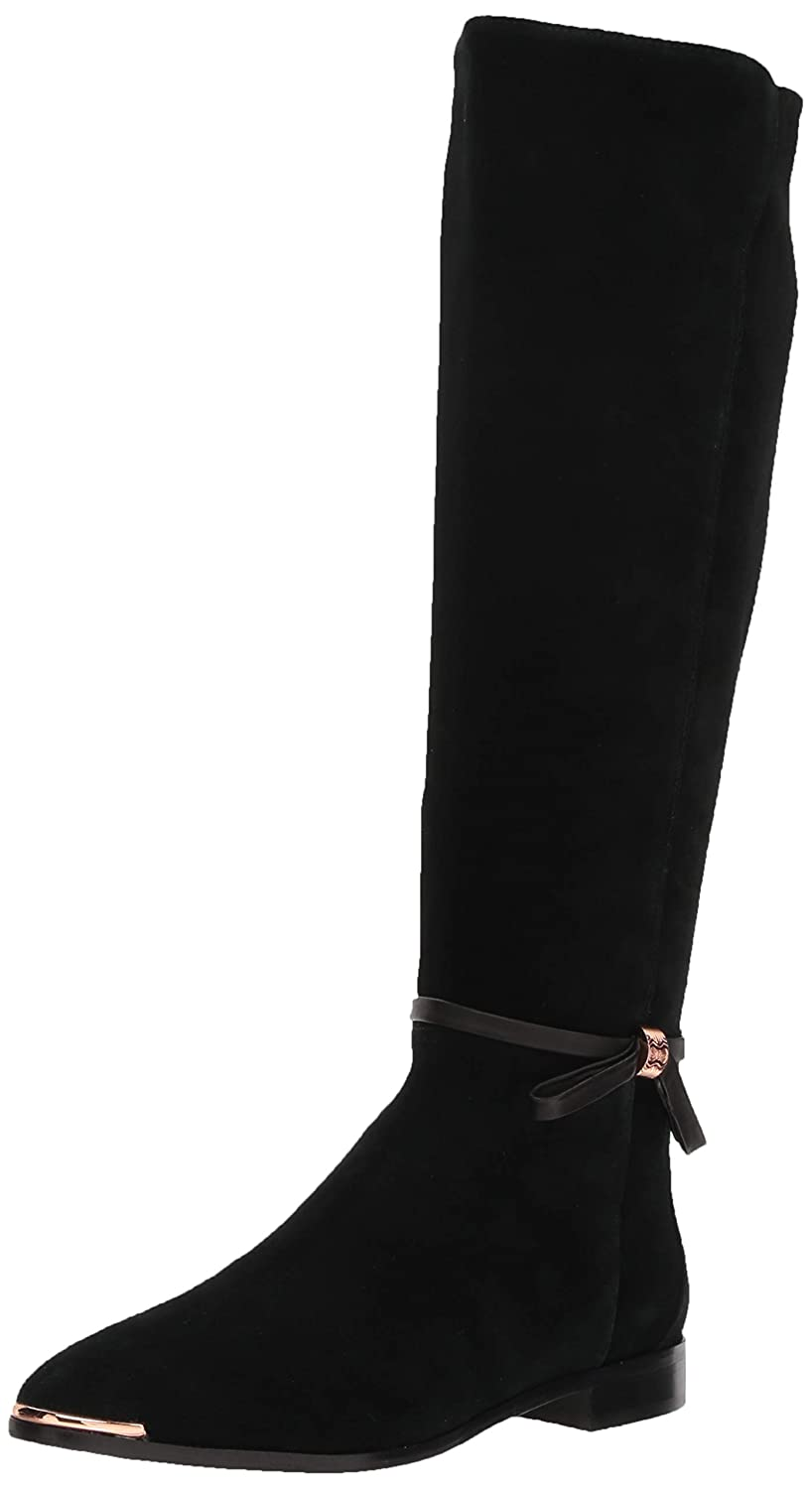 Black Suede Ted Baker Womens Lykla Over The Knee Boot