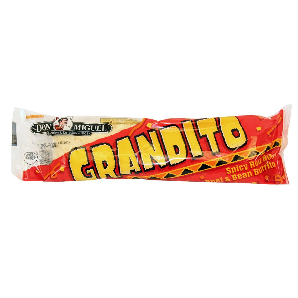 Don Miguel, Grandito Spicy Beef and Bean Burrito, 10 oz., (12 count)