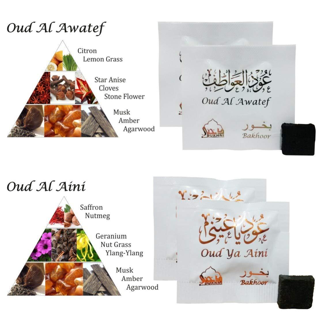 Dukhni Oud Bakhoor Incense Variety Box & Rainbow Bakhoor Burner - Gift Set & Starter Kit by Dukhni (Image #7)