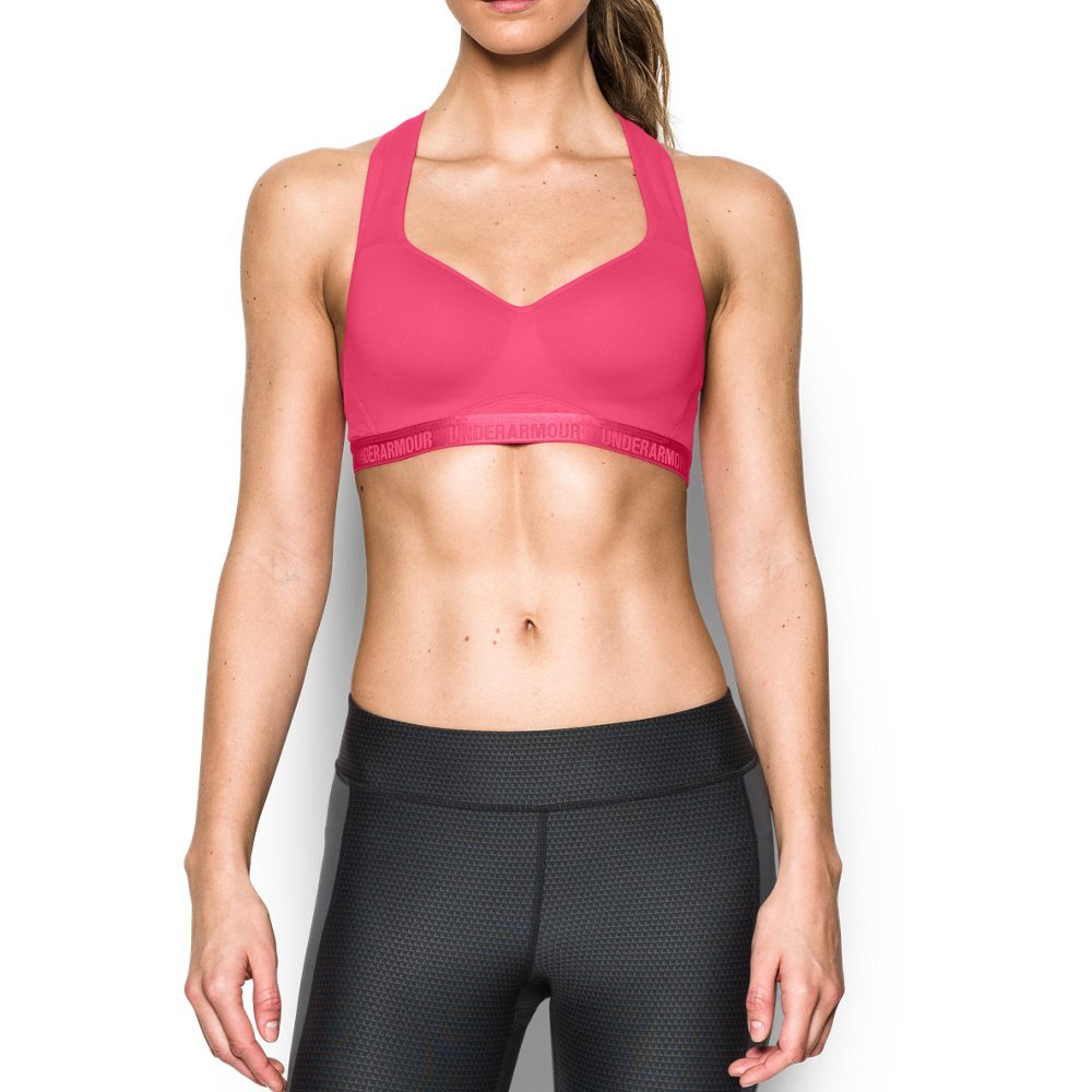 Under Armour Women's Armour High Bra, Pink Sky/Pink Sky, 32A by Under Armour (Image #1)