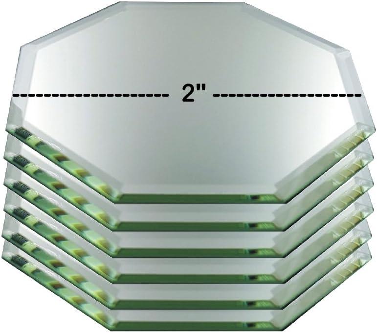 Set de 6 figuras de cristal octogonal biselado espejos para su y otros coleccionables: Amazon.es: Hogar