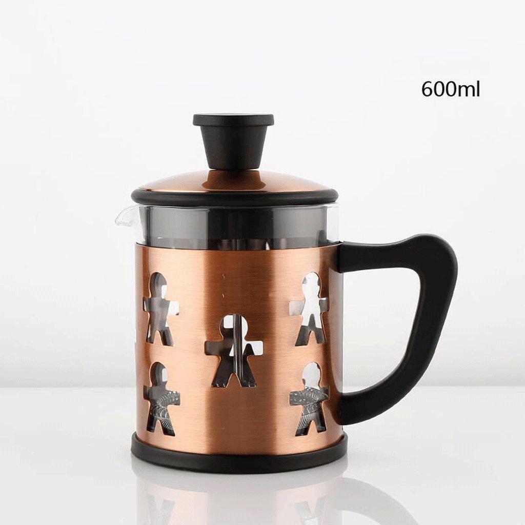 Acquisto ZHAOJING Caffettiera ad alta temperatura con caffettiera a pressione in acciaio inox ( Capacità : 600ml ) Prezzi offerta