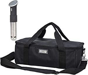 HOMEST Carrying Case for Anova Bluetooth Sous Vide Precision Cooker, 750 Watts, Anova Sous Vide Precision Cooker (WiFi), 1000 Watts or Pro (WiFi), 1200 Watts, Black (Bag Only)