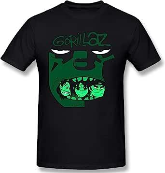 Sangning Men's Round Neck Shirt Ultra Soft Gorillaz Design Short Sleeve T-Shirts