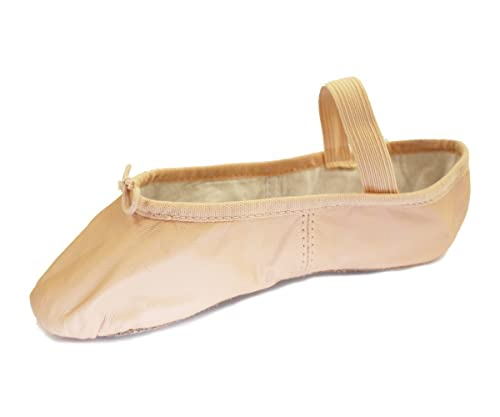 BLOCH Kinder Arise, Ballettschläppchen Leder, Chromleder Sohle. Haut (Lachs) Haut (Lachs) 33 EU