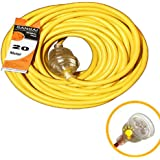 Sansai 20m Heavy Duty Extension Cord/Power Lead Light Indicator Indoor/Outdoor