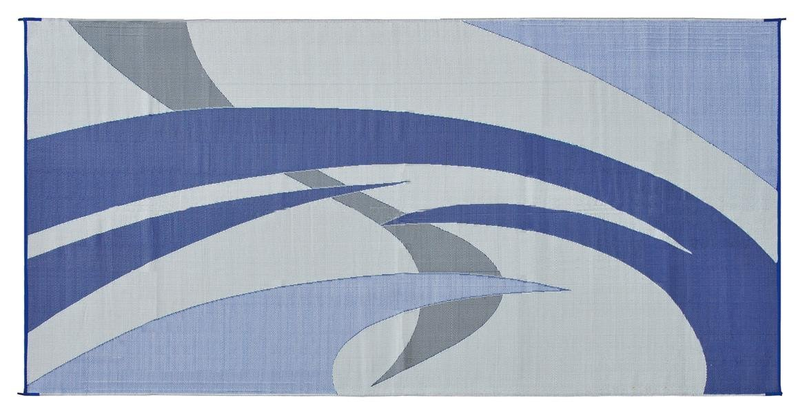 Amazon.com: Reversible Mats 159183 Blue/Grey 9u0027x18u0027 RV Patio Mat: Automotive