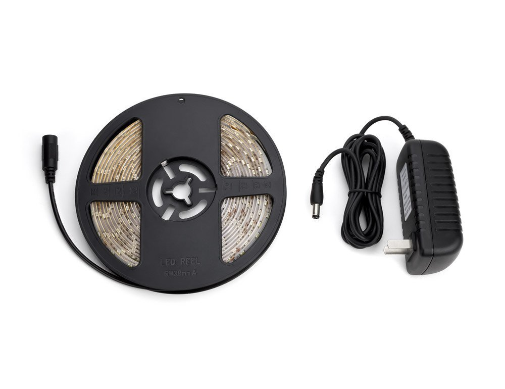 With Power Supply Sewell LightFrame LED Waterproof Light Strip 16.4 ft White 6500k