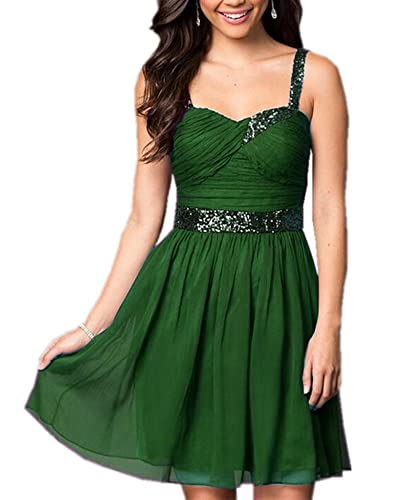 Olivia's Sparkling Sequins Straps Purple Prom Dresses 2016 Short Cocktail Party Dress