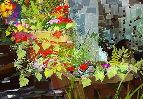 B/&D XXL murando Impression sur Toile intissee 60x30cm 1 Piece Tableau Tableaux Decoration Murale Photo Image Artistique Photographie Graphique Fleurs 020113-253