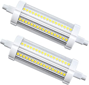 LGZY 118MM R7S Base 20W LED lamp Warm White 2700K J118 Tube Light Source Burner end 2000lm Replaces 200W Halogen Tube 360 /° for Landscape Lights Security Lights 2 Pieces