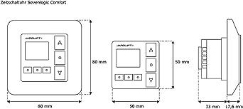 Tidyard R/égulateur pour Moteur//R/égulateur pour Moteur Rotatif avec Minuterie Programmable