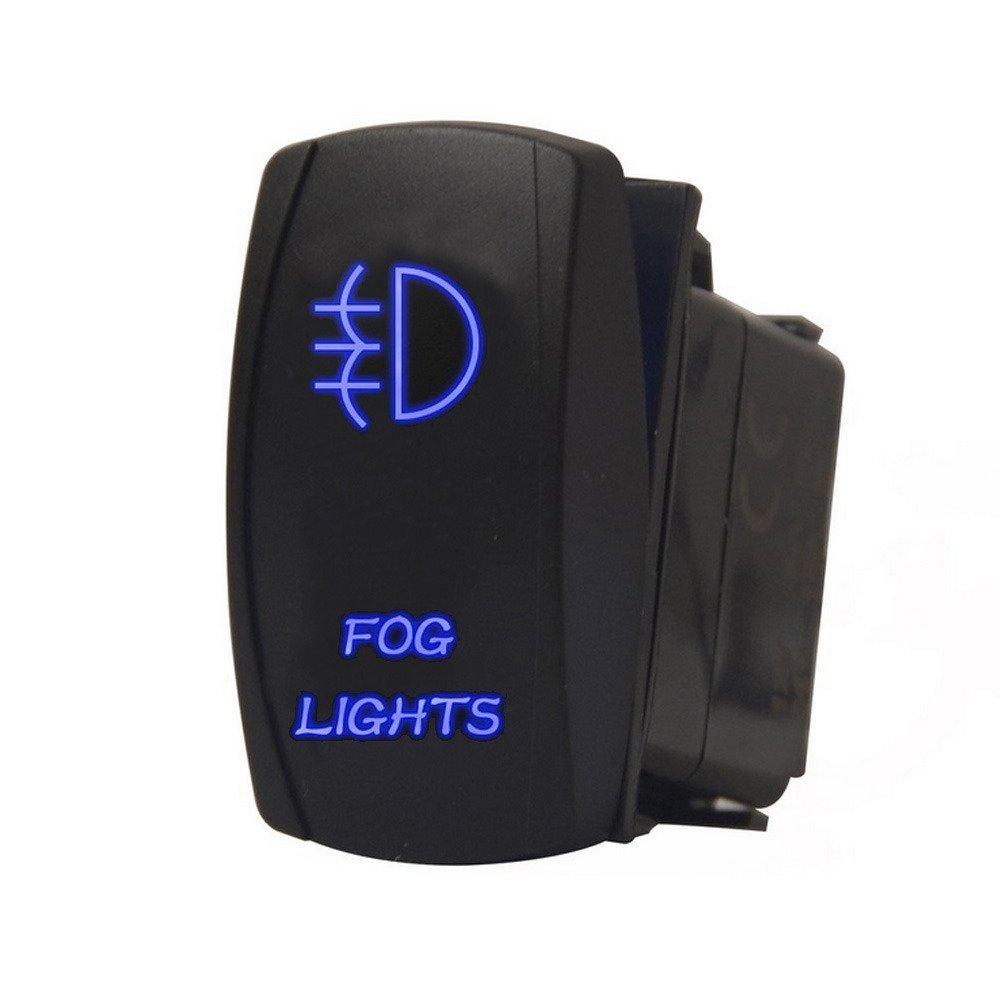 Supmico veicolo auto 12V 20A 24V 10A LED lampada leggera blu interruttore a bilanciere luce 5Pin LED Work Light