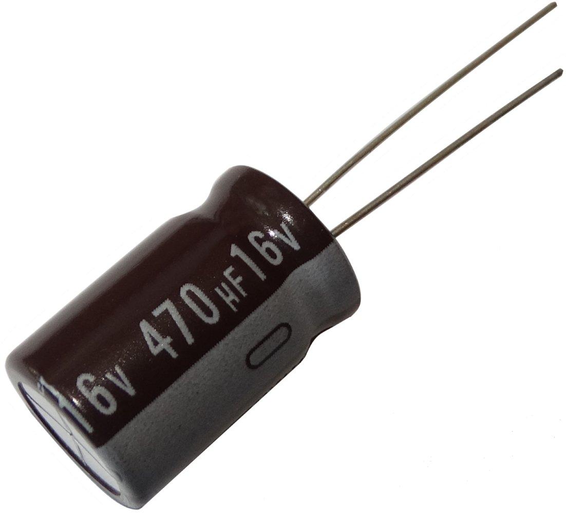 5x Condensateur /électrolytique chimique 470/µF /± 20/% 16V THT 105/°C 20000h /Ø12.5x20mm radial Aerzetix
