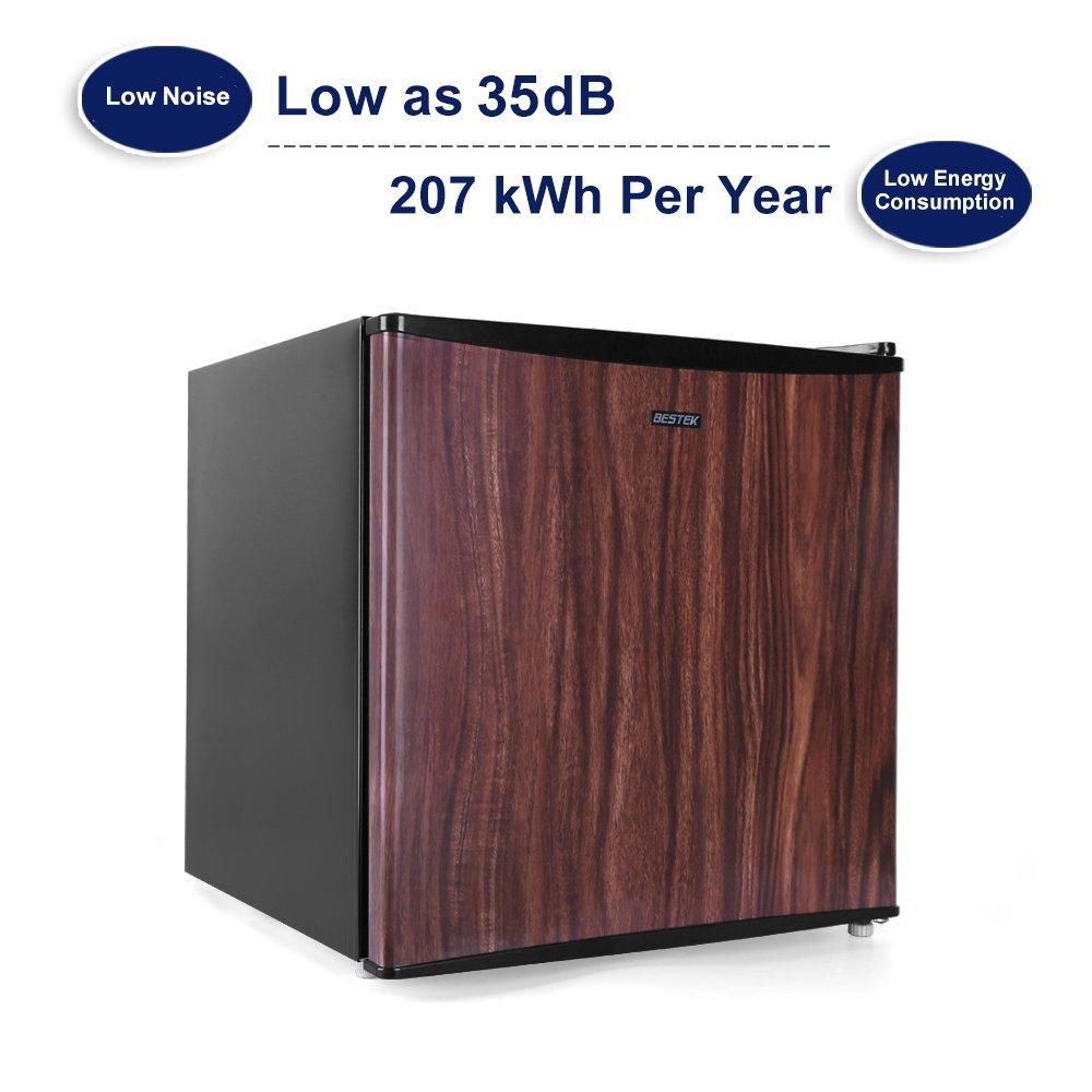 BESTEK Compact Refrigerator Energy Star Single Door 1.6 cu ft. Mini Fridge with Freezer - Wood Grain Finish (UL Listed) by BESTEK (Image #3)