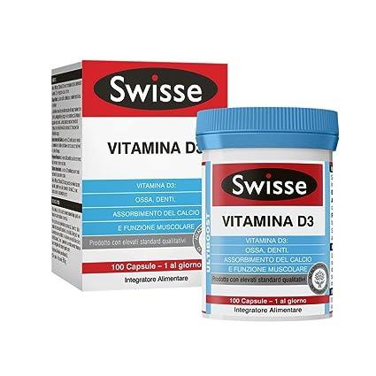 Swisse vitamina D3 Suplemento alimentario 100 Tabletas
