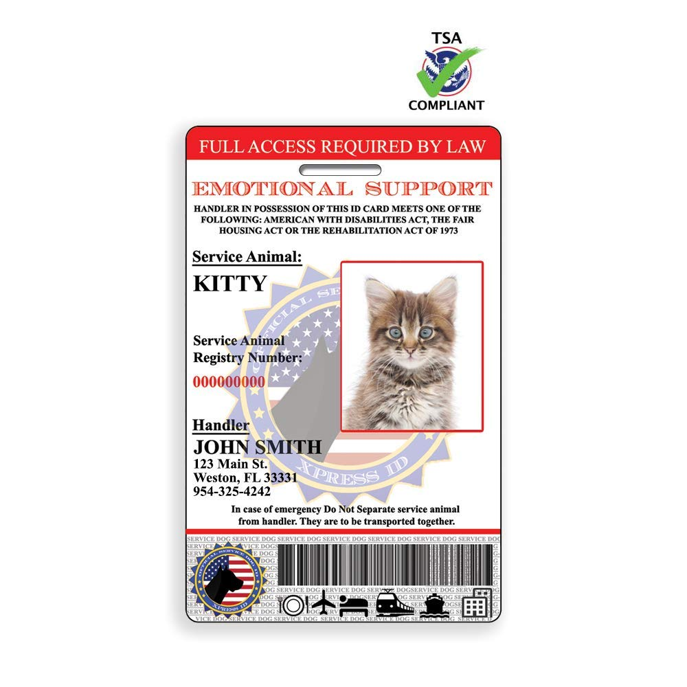 Holographic Emotional Support Animal Feline | Cat ID by Xpress ID