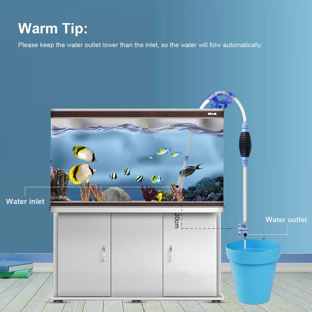 bedee Aquarium Reiniger, Aquarium Syphon Fish Tank Reiniger Fischbehälter Staubsauger für Aquarien Algen/Kies/Schmutz Reinigung Wasserwechsel Pumpe Gravel Cleaner