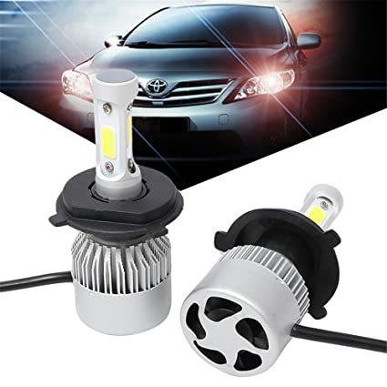 Lidauto 2PCS Bombillas LED para Faros Lámpara de luz de Coche Auto Brillo Alto Impermeable 4000LM