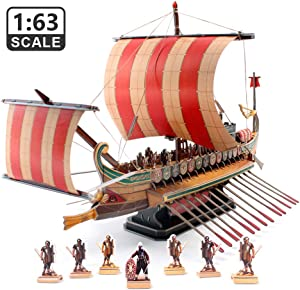 CubicFun 3D Puzzles Viking Ship Model Kits for Adults and Teens Sailboat Toys, Stress Relief Hobby Gift for Men Large Roman Warship Vessel 218 Pieces