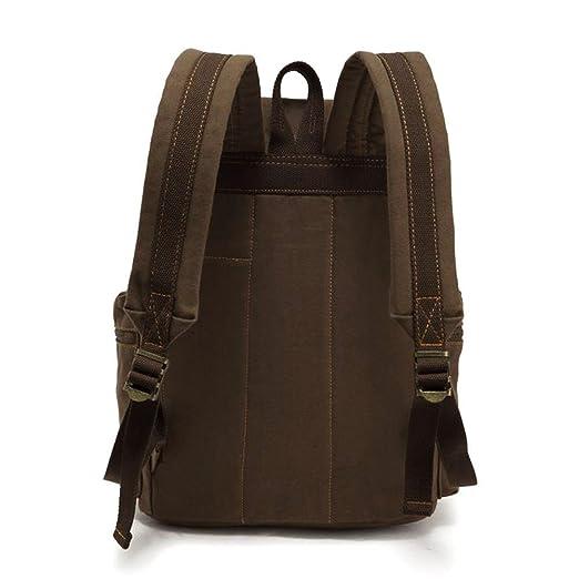 Amazon.com: PianPian Canvas Unisex Backpack Rucksack Knapsack Daypack School Bag 28x16x42cm - Army Green: Computers & Accessories