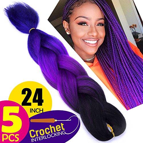 Silike (5 Pieces) Jumbo Braid Crochet Hair For Beauty 24