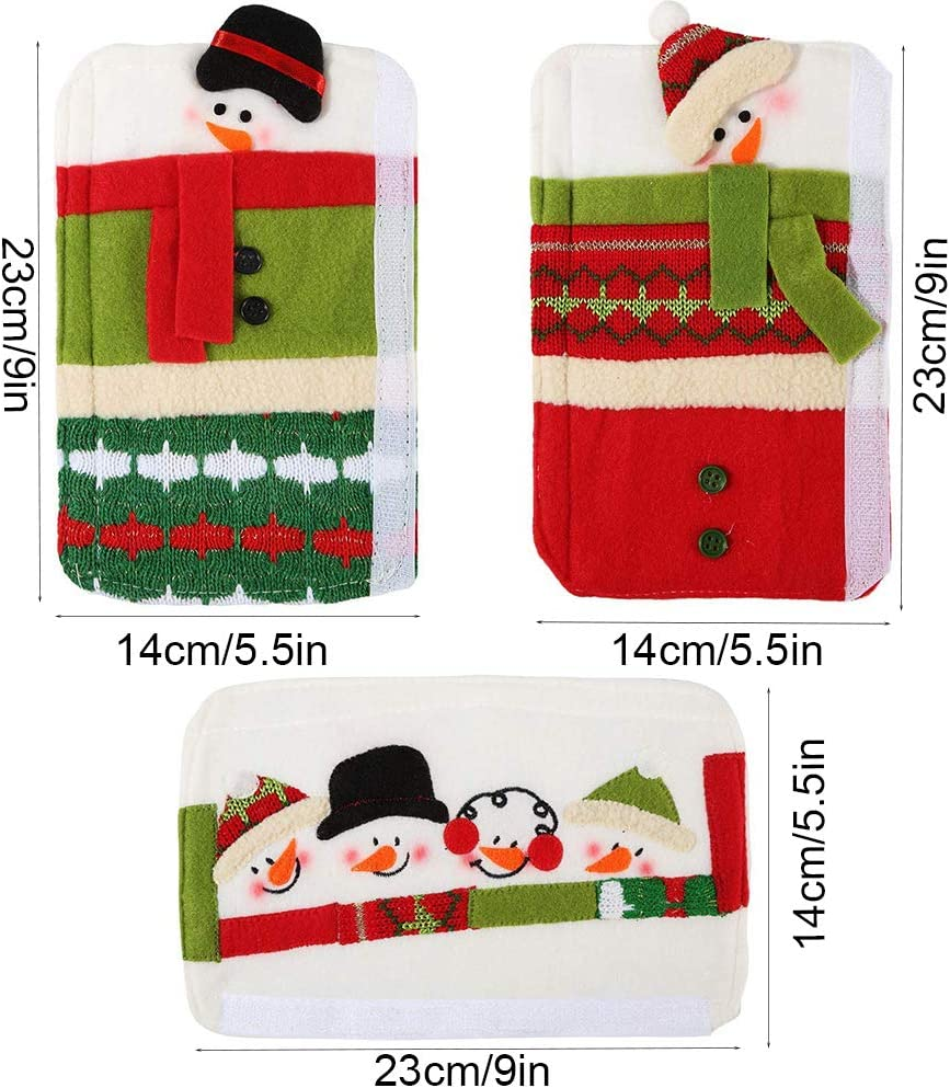Details about  /Christmas Snowman Refrigerator Door Handle Cover For All Kitchen Appliances 3pcs