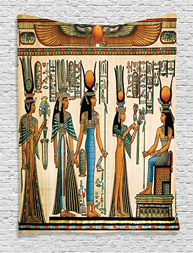 Ambesonne Egyptian Decor Collection, Egyptian Papyrus for sale  Delivered anywhere in USA