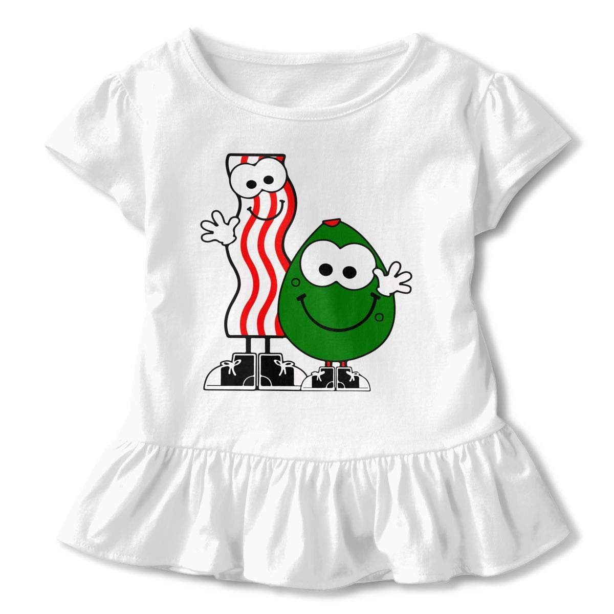 HYBDX9T Toddler Baby Girl Bacon and Avocado Funny Short Sleeve Cotton T Shirts Basic Tops Tee Clothes