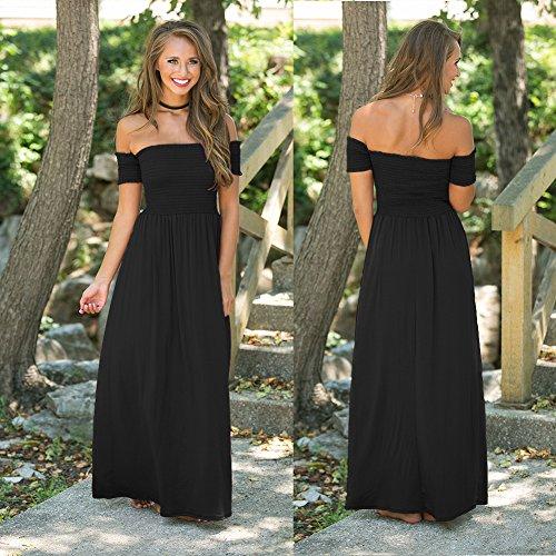Mujer De Vestidos Vestido Negro Para Fiesta Vestido Vestidos Color Pecho JIALELE De Fiesta Un De Verde Hombro Vestido Mujer Noche qxWEXO