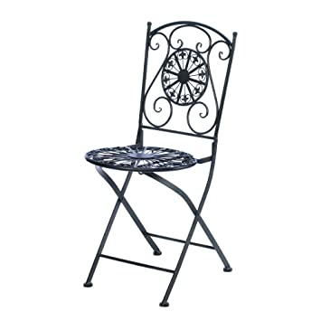 Cast Iron Fleur De Lis Patio Chair