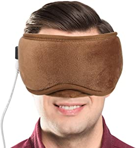 ARRIS Electric USB Heated Eye Mask with 5 Temperature Control Warm Therapeutic Treatment for Relieving Insomnia, Dry Eye, Blepharitis, Meibomian Gland Disease Brown …