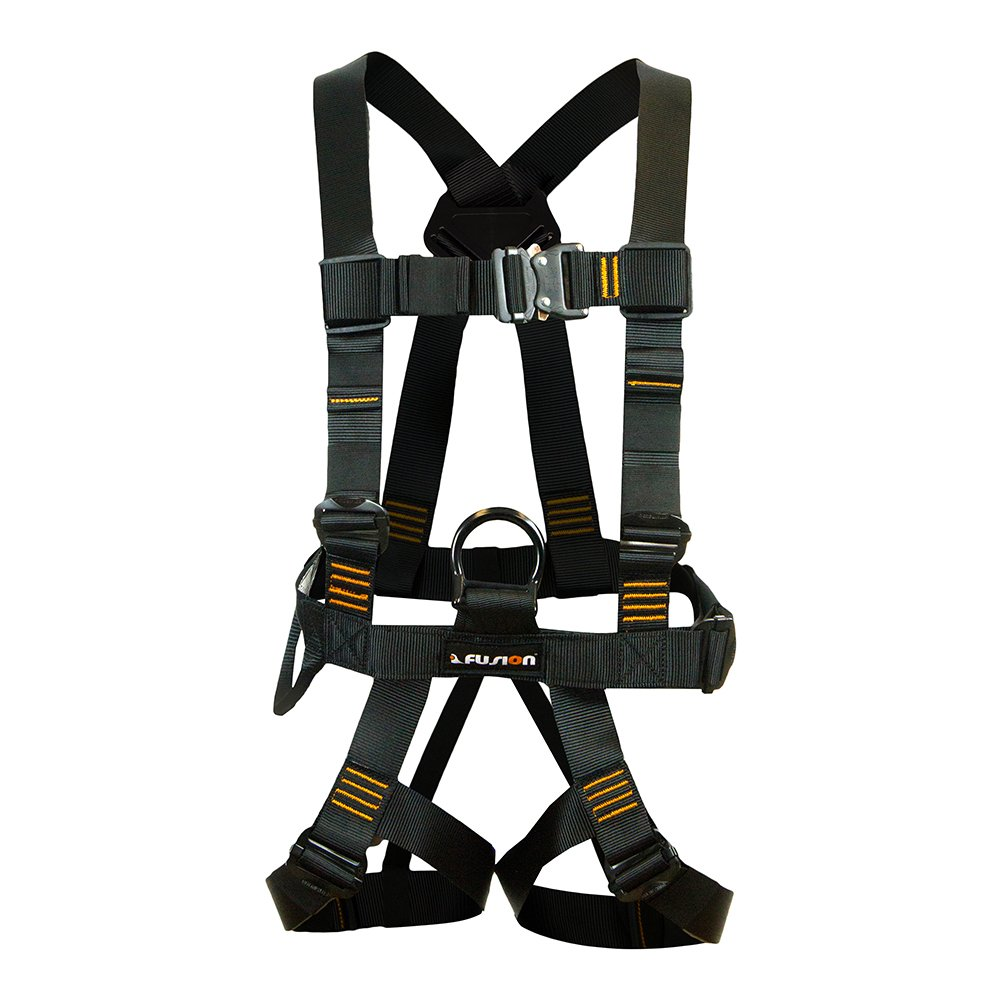 Fusion Climb Streak Racer Pro Edition Full Body Zipline Harness 23kN M-L Black