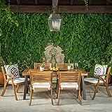 GDF Studio DeSoto7 Piece Teak Finish Acacia Wood Patio Dining Set
