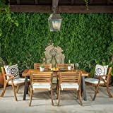 Cheap GDF Studio DeSoto7 Piece Teak Finish Acacia Wood Patio Dining Set