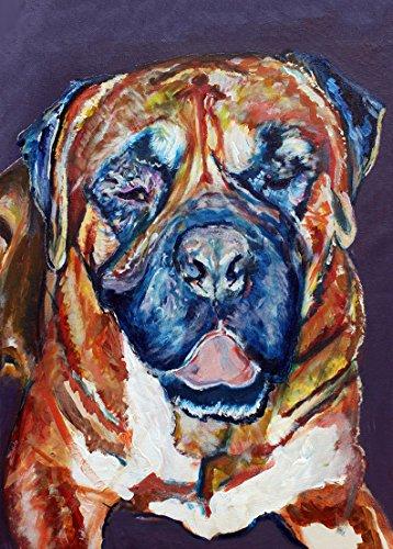 nt, Bull Mastiff Gifts, Mastiff dogs, Dog painting Wall Art Bull mastiff decor hand signed by Oscar Jetson ()