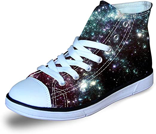 Girls Little Kids Toddler Canvas Sneakers Lightweight High Top/Lace Up Walking Shoes