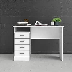 تفيلوم طاوله خشب متعدده الوظائف ، لون ابيض ، 46x75x120 سم