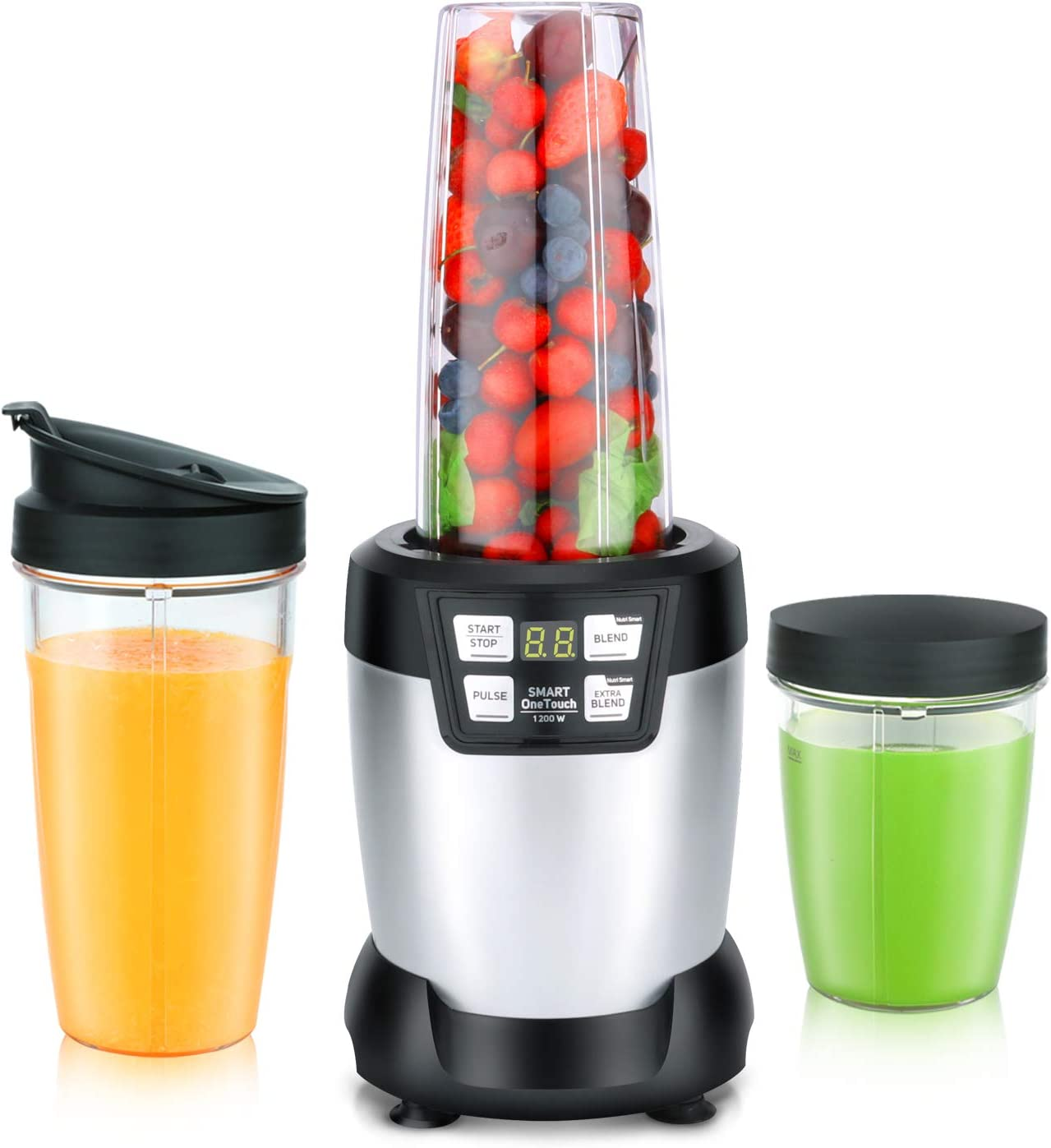 Winlim Personal Blender for Shakes, Smoothies, Food Prep, and Frozen Blending with 1200 Watt Base