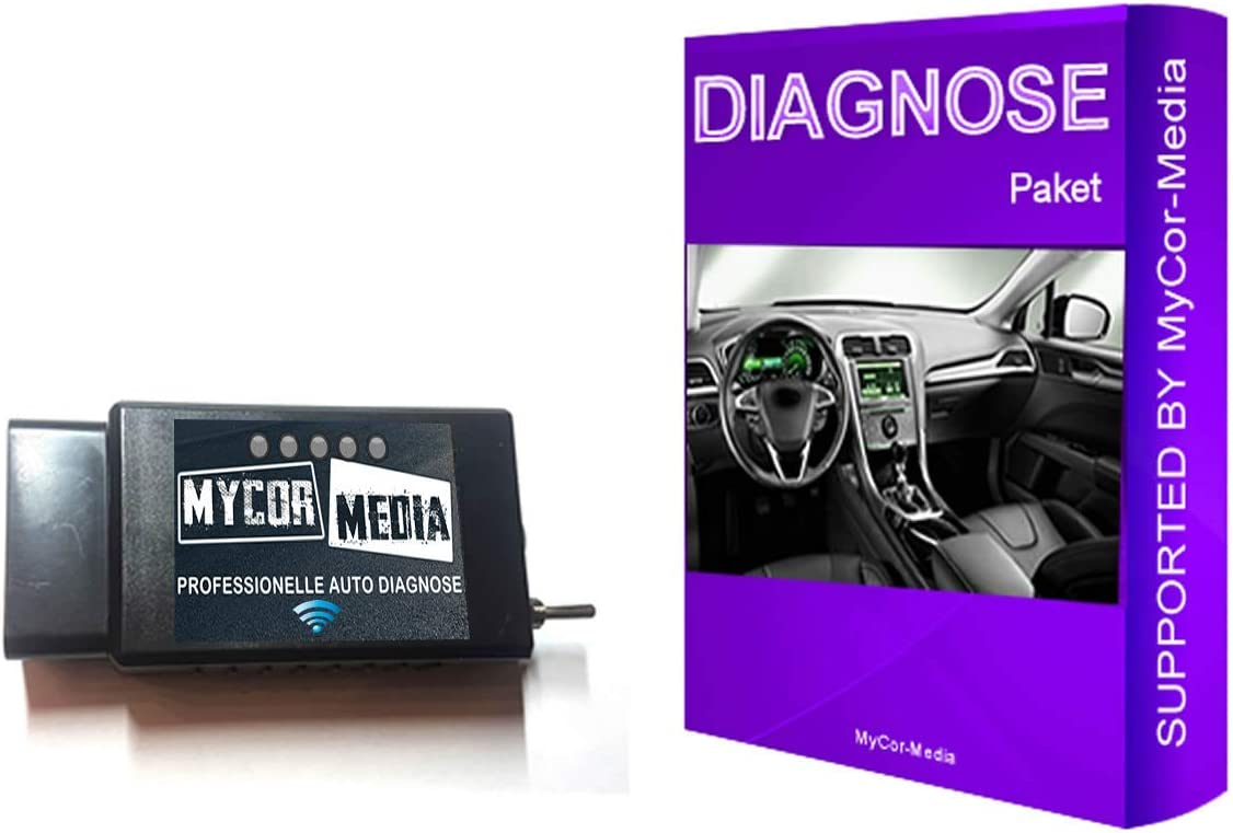 MyCor-Media WiFi Diagnose f/ür Ford Mazda FORScan Focus Smax Mondeo Kuga CMax Mondeo WLAN